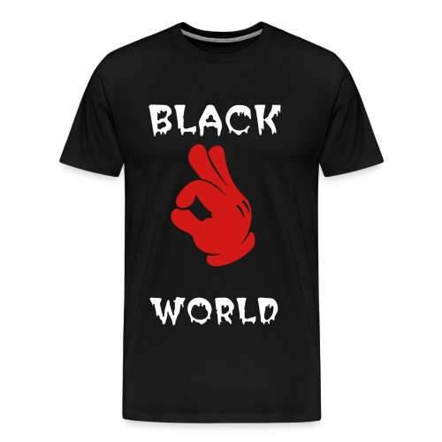 Black world - Men's Premium T-Shirt