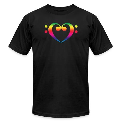Bass Heart - Men's  Jersey T-Shirt