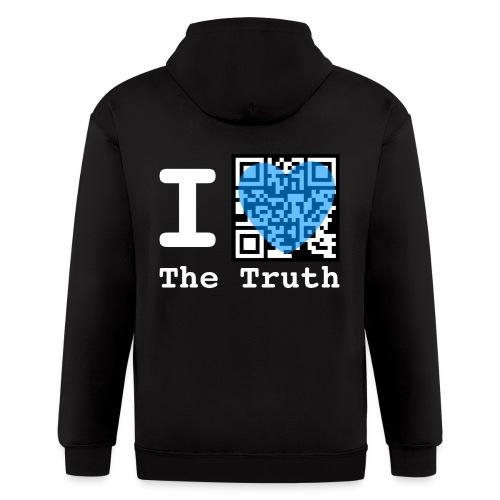 I Love The Truth JW ORG QR Code Zip Hoodie - Men's Zip Hoodie