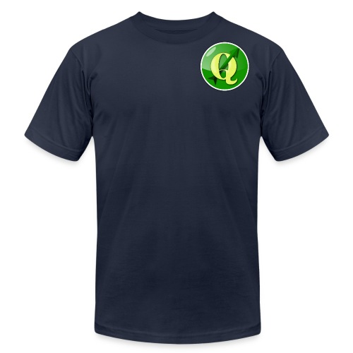 Slim fitting Men's QGIS T-Shirt With Logo on Front and Back - Men's T-Shirt by American Apparel