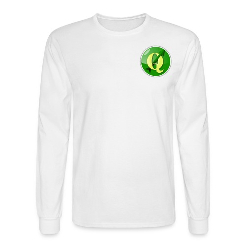 Men's QGIS Long Sleeve T-Shirt With Logo on Front and Back - Men's Long Sleeve T-Shirt