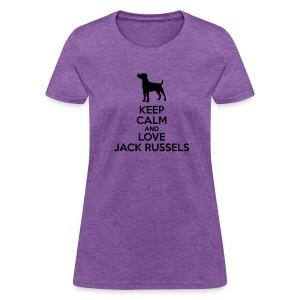 Keep Calm & Love JRT's Women's T - Women's T-Shirt
