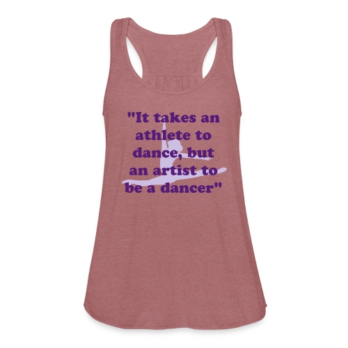 Purple and Green Quote Tank - Women's Flowy Tank Top by Bella