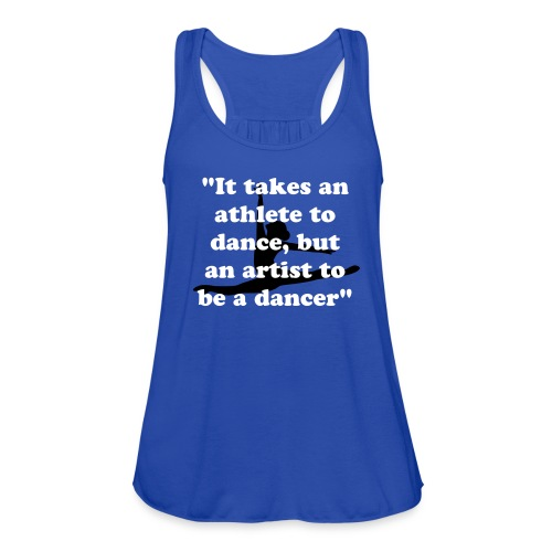 Royal Blue Quote Tank Top - Women's Flowy Tank Top by Bella