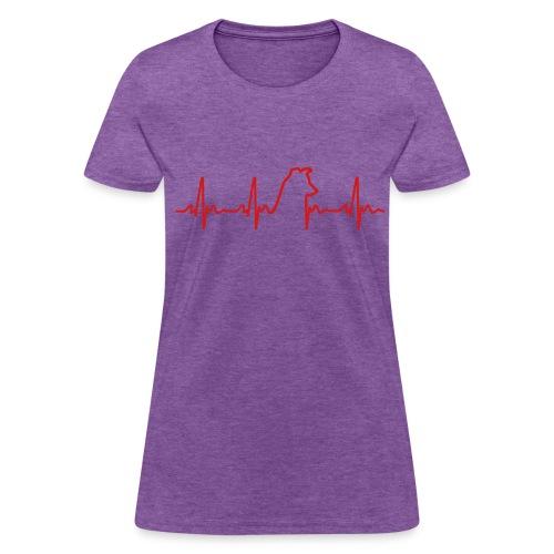 Heartbeat Dog Women's T - Women's T-Shirt