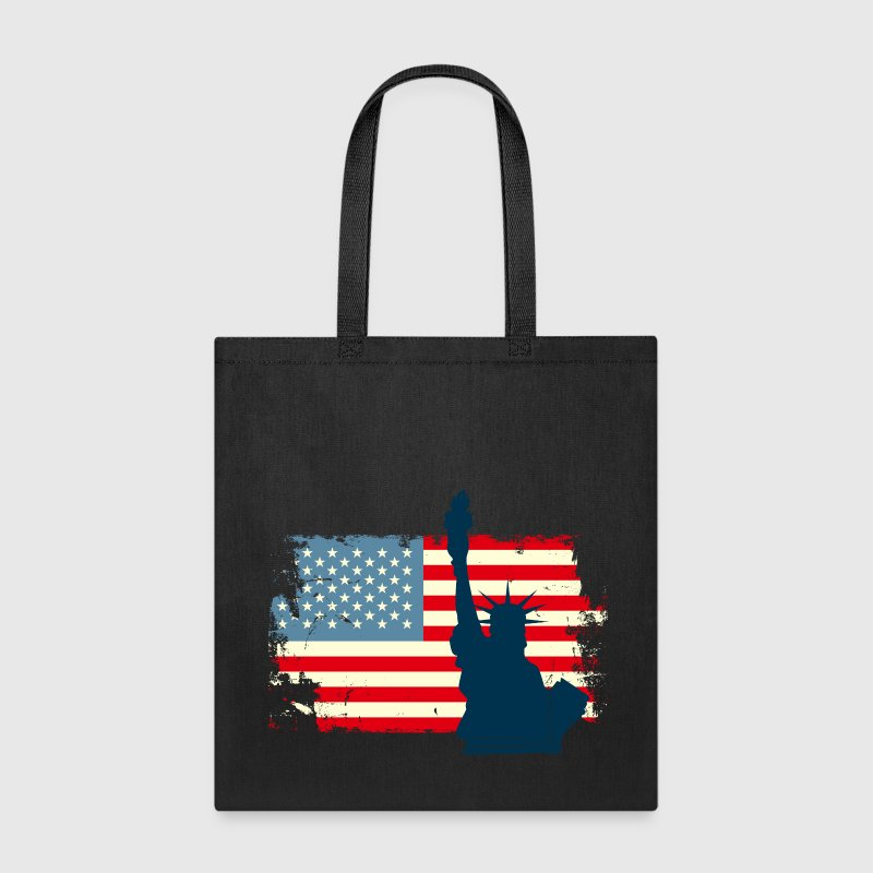 Liberty Statue USA Flag Bags & backpacks - Tote Bag