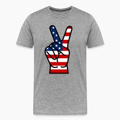 USA Peace Hand T-Shirts