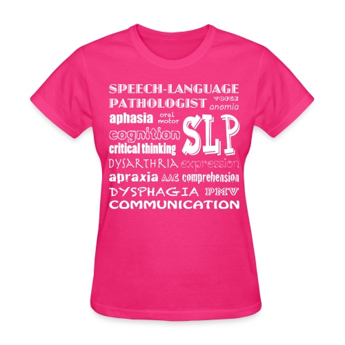 Medical SLP Word Art - Women's T-Shirt