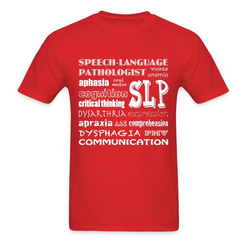 Medical SLP Word Art - Men's T-Shirt