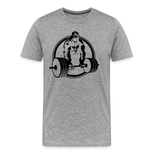 Weightlifting Fitness Crossfit Gorilla - Men's Premium T-Shirt