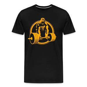 Weightlifting Fitness Crossfit Gorilla - Men's Premium T-Shirt