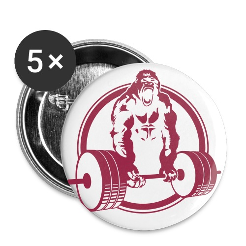 Weightlifting Fitness Crossfit Gorilla - Large Buttons
