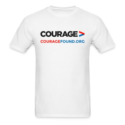 Courage CourageFound.org  - Men's T-Shirt