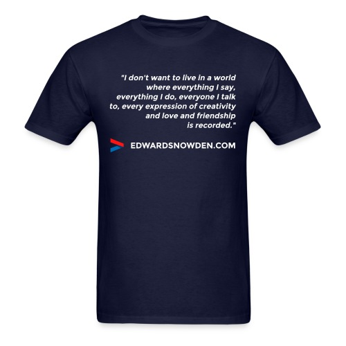 Edward Snowden - Men's T-Shirt