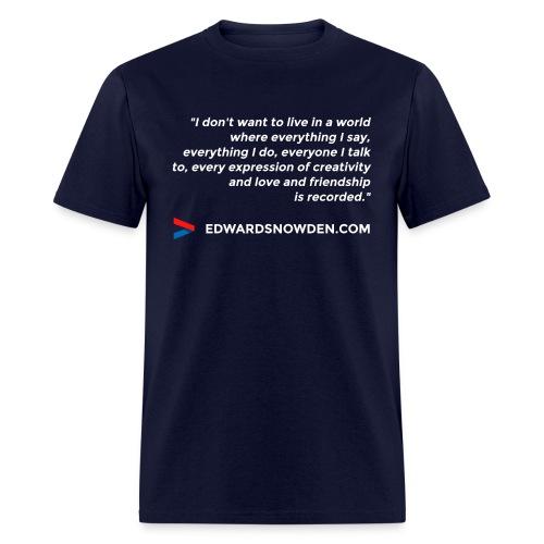 Edward Snowden - Men's T-Shirt