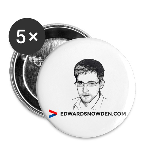 Edward Snowden Buttons - Buttons large 2.2'' (5-pack)