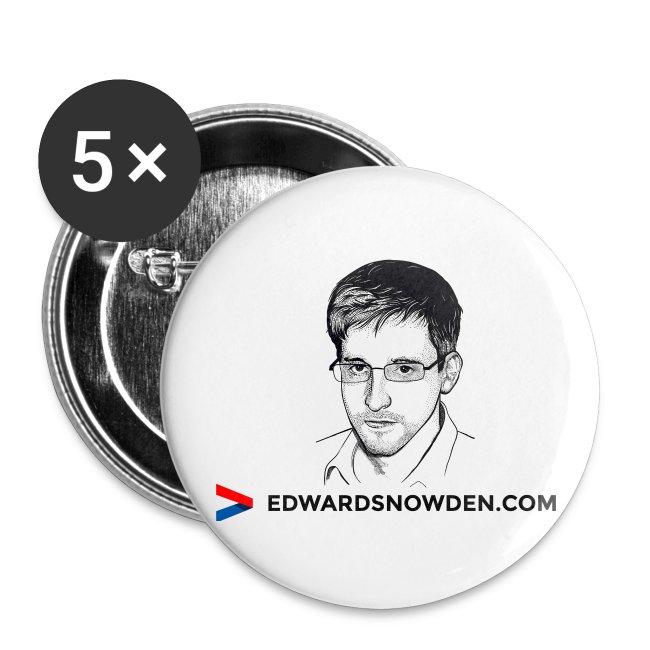 Edward Snowden Buttons