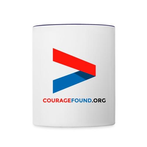 Courage Contrast Mug - Contrast Coffee Mug