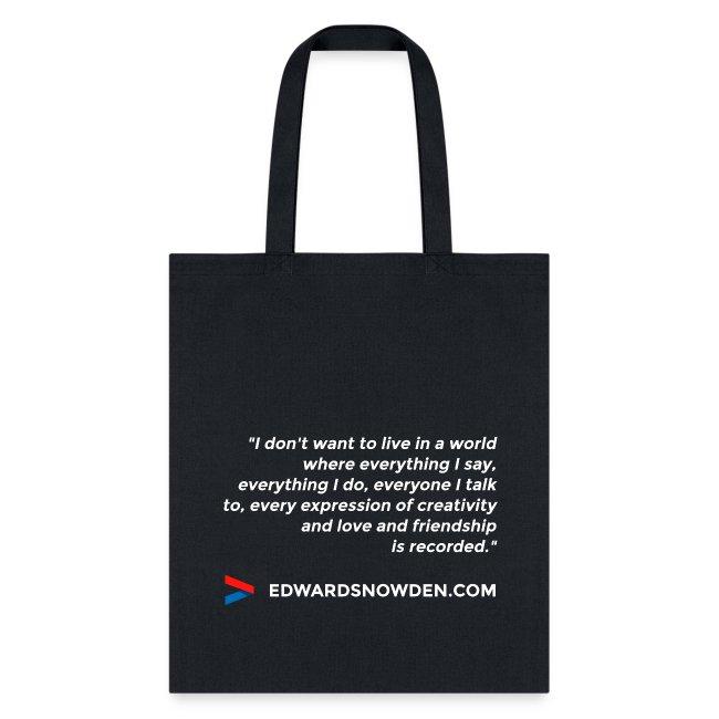 Snowden Quote Bag