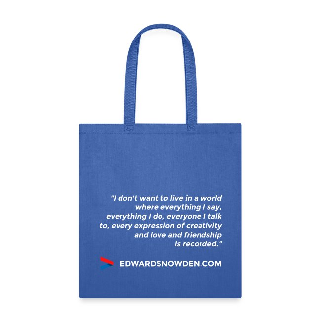 Snowden Quote Bag