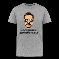 T-Shirts ~ Men's Premium T-Shirt ~ Alcoholics Hippopotamus Shirt