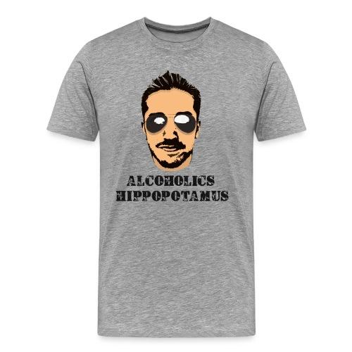 Alcoholics Hippopotamus Shirt - Men's Premium T-Shirt