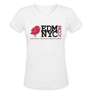 EDMNYC Mysteryland Womens Tee - Women's V-Neck T-Shirt