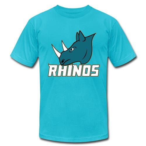 RHINOS LOGO TEXT - Men's Fine Jersey T-Shirt