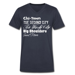 ChiTownSweetHome - Men's V-Neck T-Shirt by Canvas