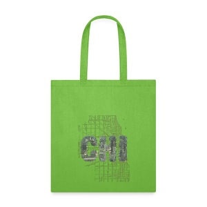 Chicago Sky Map - Tote Bag
