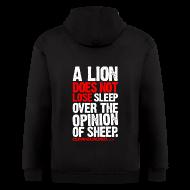 Zip Hoodies & Jackets ~ Men's Zip Hoodie ~ A lion does not lose sleep | Mens Zipper hoodie