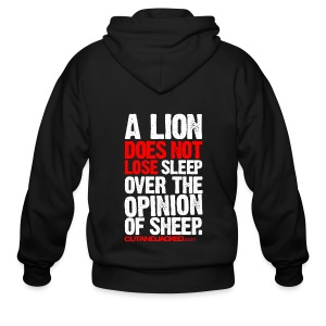 A lion does not lose sleep | Mens Zipper hoodie - Men's Zip Hoodie