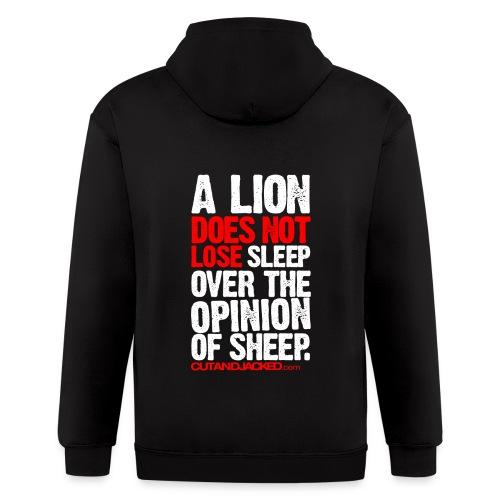 A lion does not lose sleep | Mens Zipper hoodie - Men's Zip Hoodie