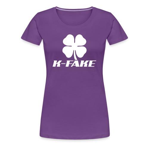 Ladies K-FAKE Fitted Tee - Women's Premium T-Shirt
