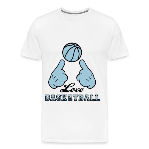 Love Basketball Tee - Men's Premium T-Shirt