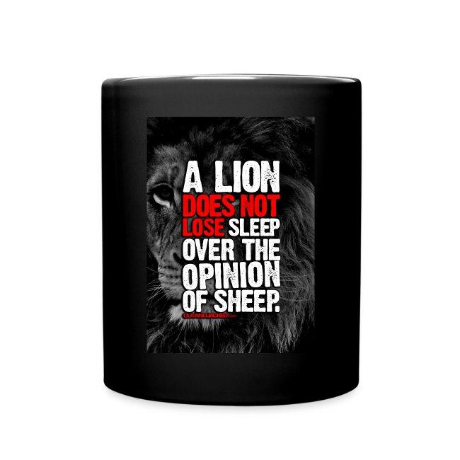 A lion art   mug