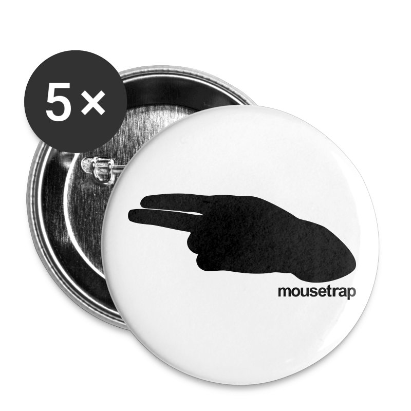 TWO-FINGERED POINT BUTTONS (x5) - Small Buttons