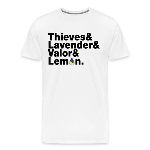 Thieves&Lavender&Valor&Lemon Men's T-Shirt - Men's Premium T-Shirt
