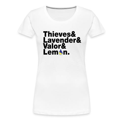 Thieves&Lavender&Valor&Lemon Women's Premium T-Shirt - Women's Premium T-Shirt