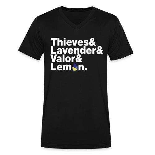 Thieves&Lavender&Valor&Lemon Men's V-Neck T-Shirt - Men's V-Neck T-Shirt by Canvas