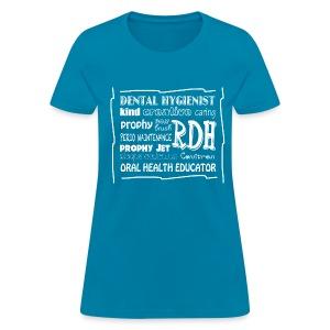 Dental Hygienist Word Art - Women's T-Shirt