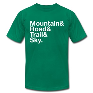 Men's MTGE Where We Run T-shirt - Men's T-Shirt by American Apparel