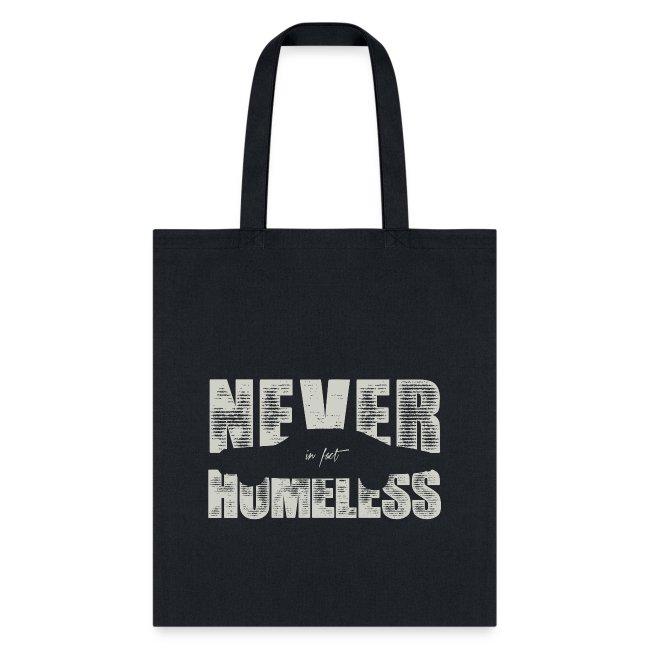 never in fact homeless