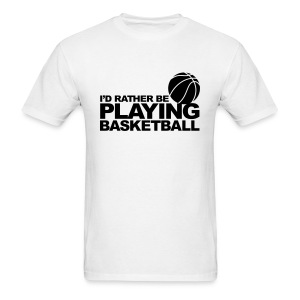 Playing Basketball - Men's T-Shirt