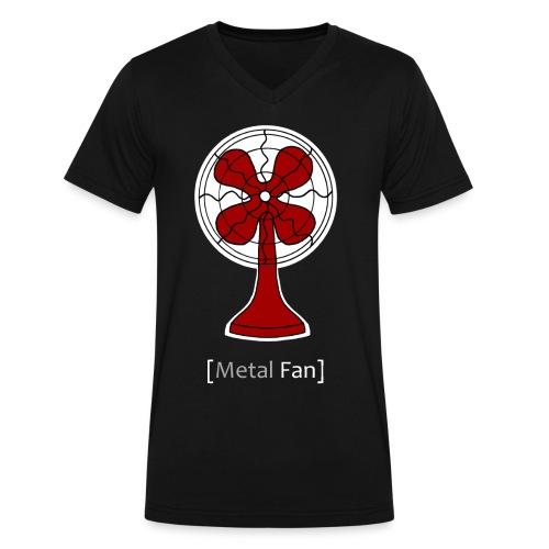 Metal Fan - Men's V-Neck T-Shirt by Canvas