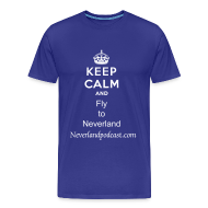 T-Shirts ~ Men's Premium T-Shirt ~ Keep Calm and Fly to Neverland