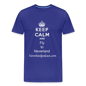Keep Calm and Fly to Neverland - Men's Premium T-Shirt