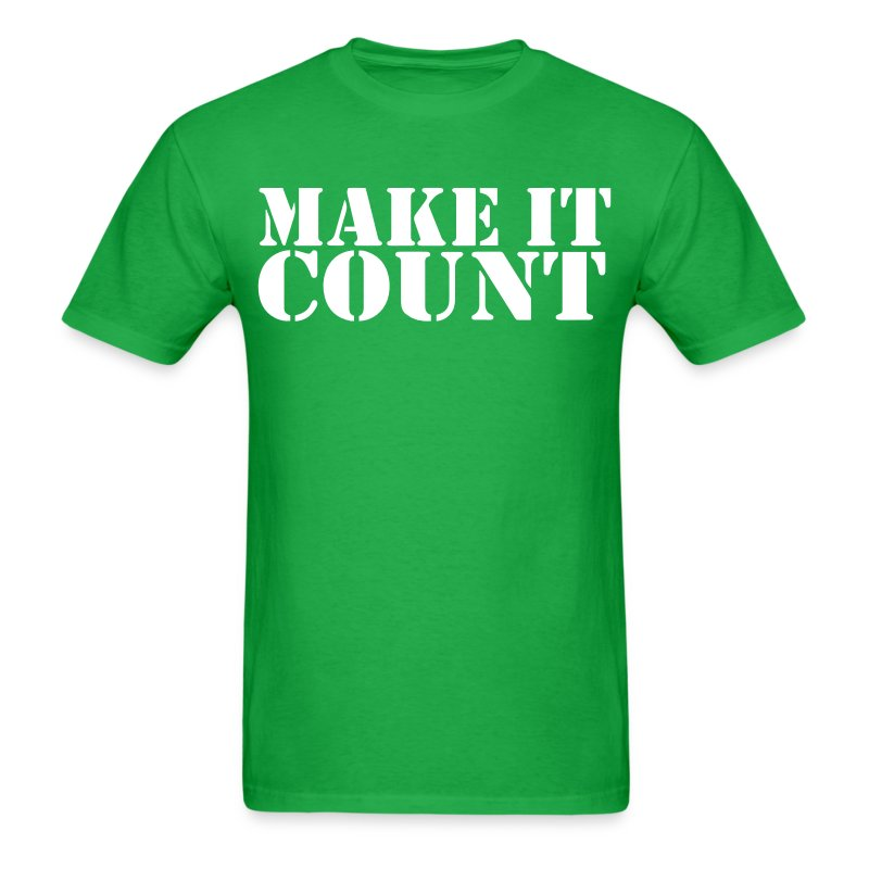 Make it count t shirt spreadshirt for Make a photo t shirt