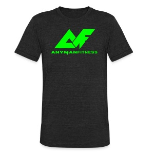 Anyman Fitness Men's Neon Green Tee - Unisex Tri-Blend T-Shirt by American Apparel