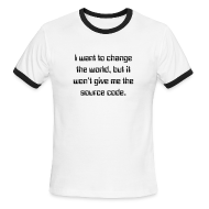 T-Shirts ~ Men's Ringer T-Shirt ~ Change the world